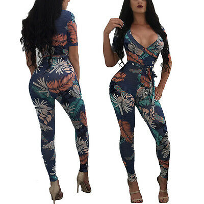 Women Jumpsuit&Romper  Deep V SleevelessClubwear Playsuit Bodycon Party Trousers