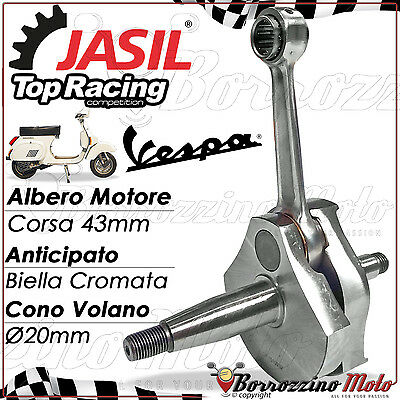 Albero Motore Jasil Top Racing Anticipato Cromato Per Vespa Pk 50 Xl Rush N Hp