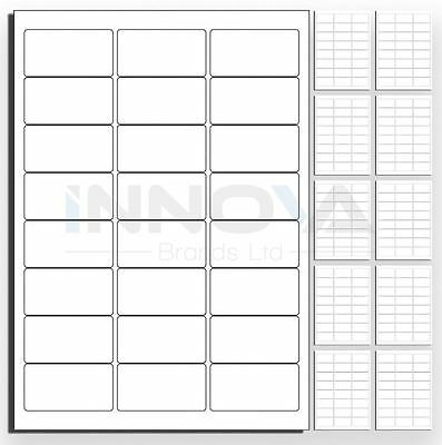 24 Labels Per Page, 100 Sheets 63.5 x 33.9cm Amazon FBA L7159 & J8159 Compatible
