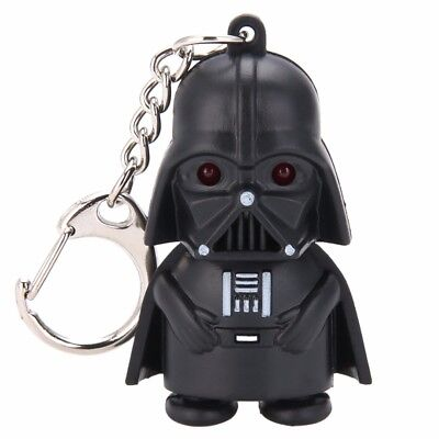 New Dark Vador Star Wars Light Up poche à DEL avec son Porte-clés Red Light