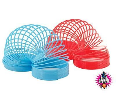 Slinky Magic Spring Toy Twin Pack Red And Blue Comes In Retro Style Gift Box