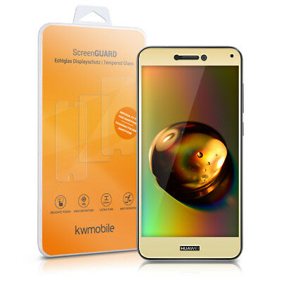 kwmobile REAL GLASS PROTECTIVE FILM FOR HUAWEI P8 LITE (2017) GOLD FILM DISPLAY