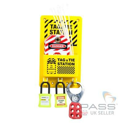 Compact Lockout Tagout Station 6 inch x 10 inch - With Accessories / UK Stock
