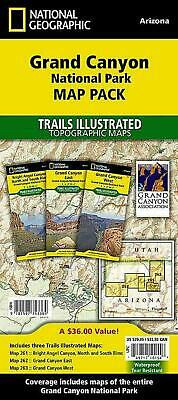 Grand Canyon National Park Map Pack: Topographic Trail Maps by National Geograph