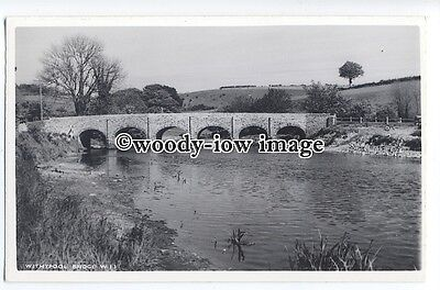 tq1120 - The Withypool Bridge over the River Barle, Withypool Village - postcard