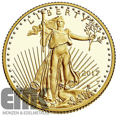 USA - 10 Dollar 2017 - American Gold Eagle - West Point (W) - 1/4 Oz. Gold in PP