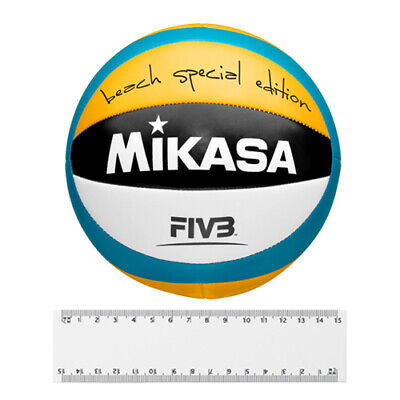 Original smart Beach Volleyball orange weiß türkis Size One MIKASA B67993603