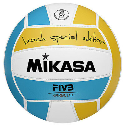 Original smart Beach Volleyball orange weiß türkis Size Five MIKASA B67993594