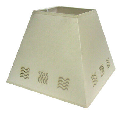 """10"""" Wave Stencil Pendant Ceiling Table Lamp Shade Cream"""