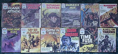 12 X Battle Picture Library War Comics,job Lot Collection,1981-1984