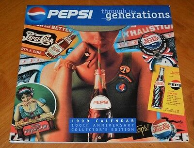 Vintage 1999 Pepsi Through The Generations Calendar Great For Pepsi Fans