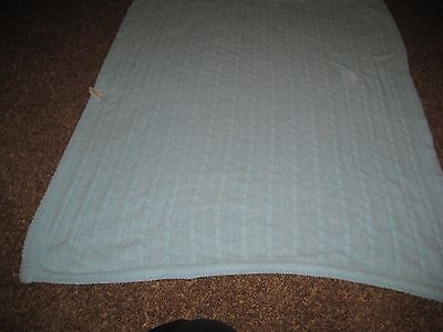 Circo Target AQUA BLUE Cable Knit Rope Soft Chenille Baby Boy Girl Blanket