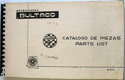 BULTACO Sherpa T Original Motorcycle Spare Parts List June 1971 #80.32-117