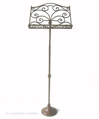 Bookstand Music Stand Antique Nostalgia Style Metal Adjustable In Height New