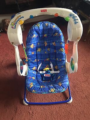 "Fisher Price ""Aquarium"" Take-Along-Swing Chair +Batteries Musical"