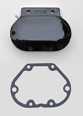 """outlaw"" Gloss Black Hydraulic Clutch Transmission Side Cover Harley"