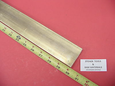 "1/4"" x 2"" C360 BRASS FLAT BAR 30"" long Solid .250"" Plate Mill Stock H02"