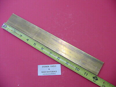 "4 Pieces 1/4"" x 2"" C360 BRASS FLAT BAR 12"" long Solid .25"" Mill Stock H02"