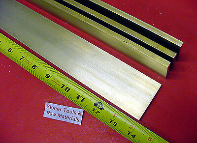 "4 Pieces 1/4"" x 2"" C360 BRASS FLAT BAR 14"" long Solid .250"" Plate Mill Stock H02"