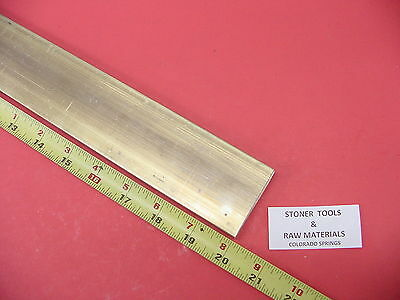 "1/4"" x 2"" C360 BRASS FLAT BAR 20"" long Solid .250"" Plate Mill Stock H02"