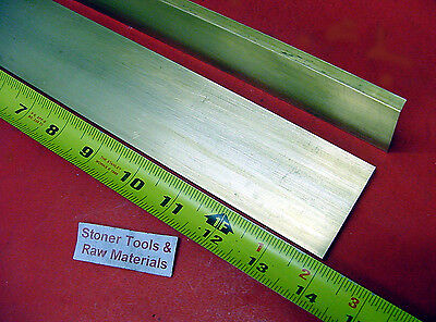 "2 Pieces 1/4"" x 2"" C360 BRASS FLAT BAR 14"" long Solid Mill Stock H02 .25""x 2.00"""