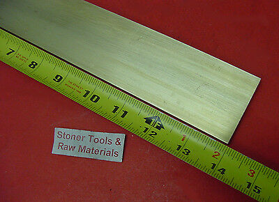 "1/4"" x 2"" C360 BRASS FLAT BAR 14"" long Solid .25"" Plate Mill Stock H02"