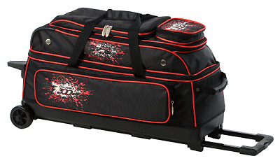 Team Columbia Black/Red 3 Ball Roller Bowling Bag