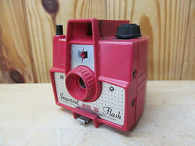 Vintage Imperial Mark XII Flash Model Box Camera Red