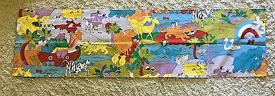 Noah's Ark Animals Children's Colorful Window Valance Curtain NEW