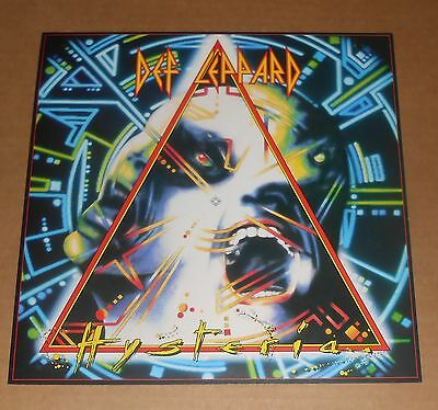 Def Leppard Hysteria 2-Sided Flat Square Poster 12x12 RARE