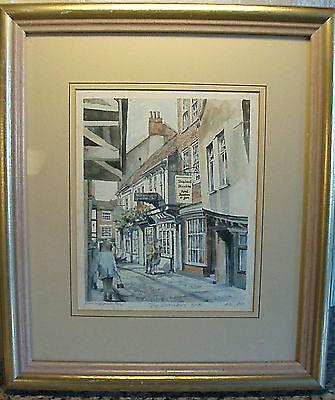 "A ""the Shambles - York"" Limited Edition Mounted & Framed ""philip Martin"" Print."