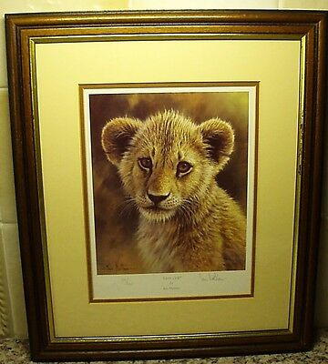 "A ""lion Cub"" Limited Edition Mounted & Framed Signed Print By ""ian Nathan""."
