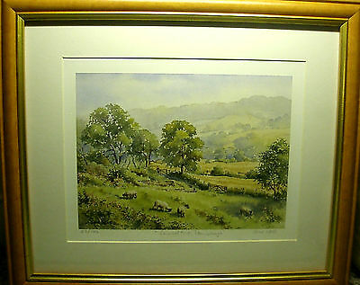 "A ""john Wood"" Signed Mounted & Framed Print ""summertime - Stainborough"" Barnsley"