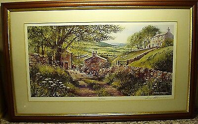 "A ""summer Dale"" Mounted And Framed Signed Print By ""terry Harrison"""