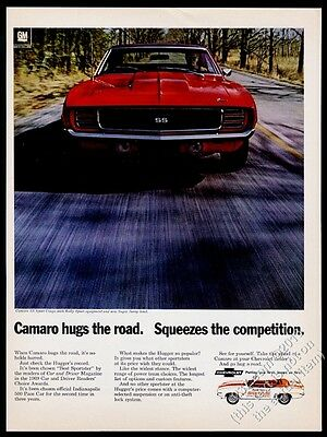 1969 Camaro SS RS red Rally Sport coupe photo Chevy Chevrolet vintage print ad