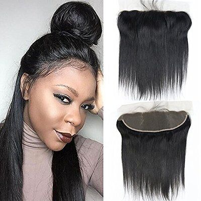 Brazilian Virgin Human Hair Extension w/ Bleached Knots & Lace Closure -14 Inch