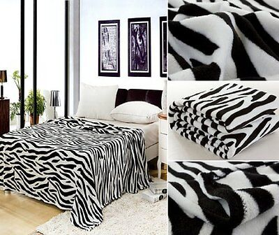 Lightweight Fabric & Machine Washable Ultra Soft Plush Fleece Blanket - Queen