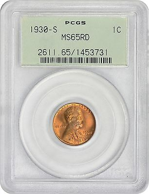 1930-S Lincoln Cent MS65RD PCGS Mint State 65 Red