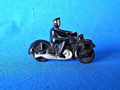 Plasatic Actual Or Copy Of Dinky Motor Cycle Policeman