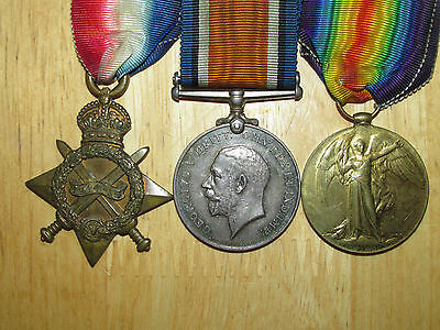 WW1 British Group Medal 1914-1915 Star Trio named to Beck