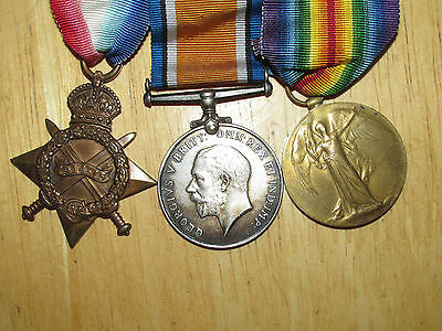 WW1 British Group Medal 1914-1915 Star Trio named to Blacks