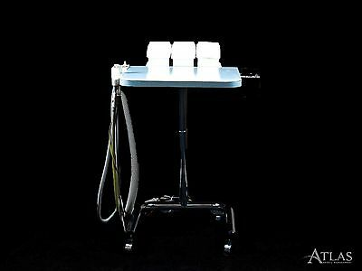 Aseptico Dental Assistant Portable Delivery Cart w/ SE, HVE, & Air-Water Syringe