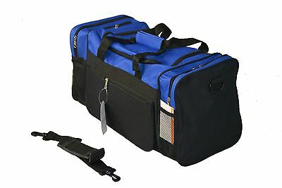 """20"""" Sports Duffle Bag luggage with Shoulder Strap for Travel Gym BLUE NEW + TAG"""