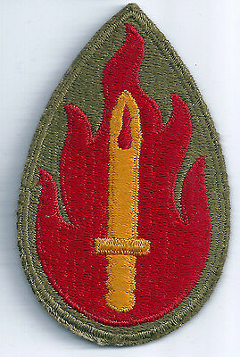Ww2 U.s. Army 63Rd Infantry Division Cut Edge Snow Back Ssi Insignia Patch Wwii