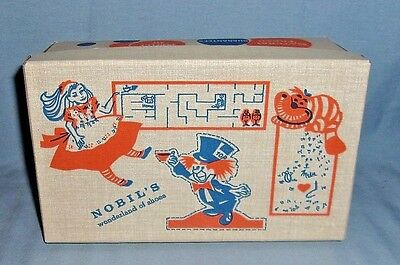 Vintage Nobil's Wonderland of Shoes Shoe Box Alice in Wonderland