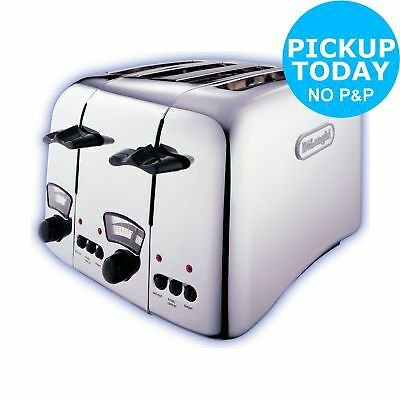 DeLonghi Argento 4 Slice Toaster - Stainless Steel -From the Argos Shop on ebay