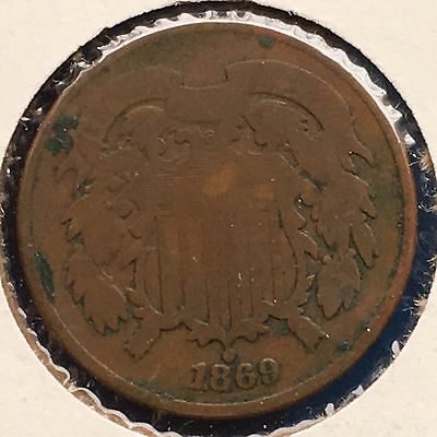 1869 2C Two Cent Piece [Auto. Combined Shipping](28734)