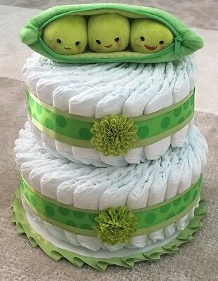 New Baby Disney Pixar Peas In A Pod Pampers Diaper Cake Size 2