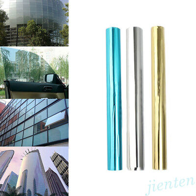 Mirror Solar Reflective Window Glass Tint Film Foil One Way Anti-UV Home Office