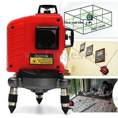 3D 12 Lines Professional Automatic Laser Level Measure Self Levelling Tool Set